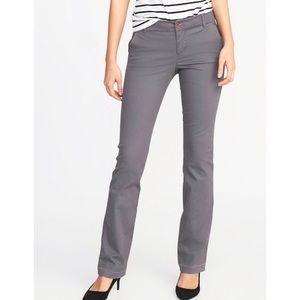 [Old Navy] NWT Gray Mid Rose Boot Cut Khaki Pants